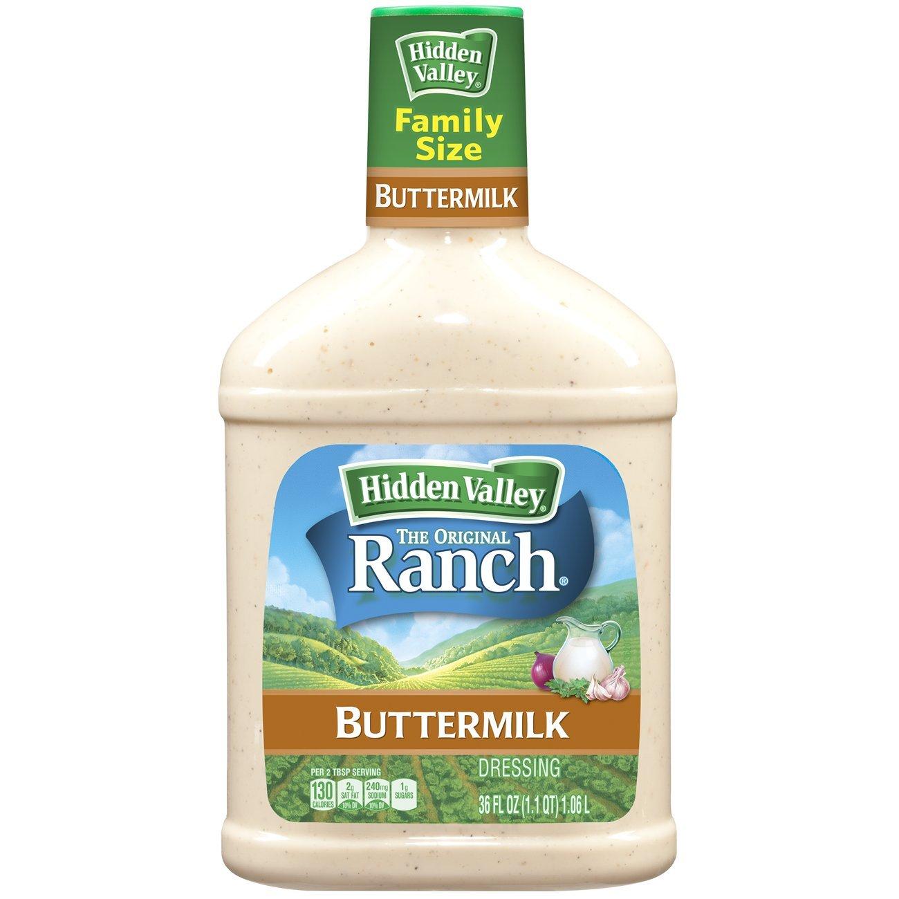 Hidden Valley Buttermilk Ranch Salad Dressing & Topping, Gluten Free - 36 Ounce Bottle - 6 Pack by Hidden Valley