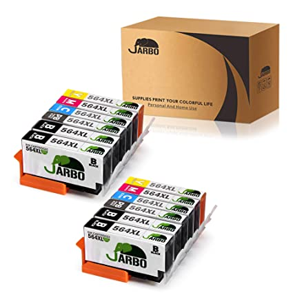 Jarbo 5 Color Compatible Replacement For Hp 564xl Ink Cartridge 2 Sets2 Black For Hp Photosmart 5520 6520 7520 5510 6510 7510 7525 B8550 C6380 Hp