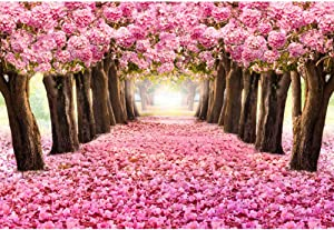 OFILA Spring Flowers Blossoms Backdrop 10x6.5ft Tea Party Decoration Enchanted Garden Theme Baby Shower Party Girls Princess Birthday Portraits Wedding Photos Background School Events Studio Props