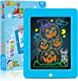 Obuby Kids Light Up Drawing Board Magic Pad Draw Tracingwith 9 Light EffectsLED Sketch Tablet Glow in The DarkArt DoodleColor Set EducationalToys Learning Gifts forWriter, Boys and Girls (Bule)