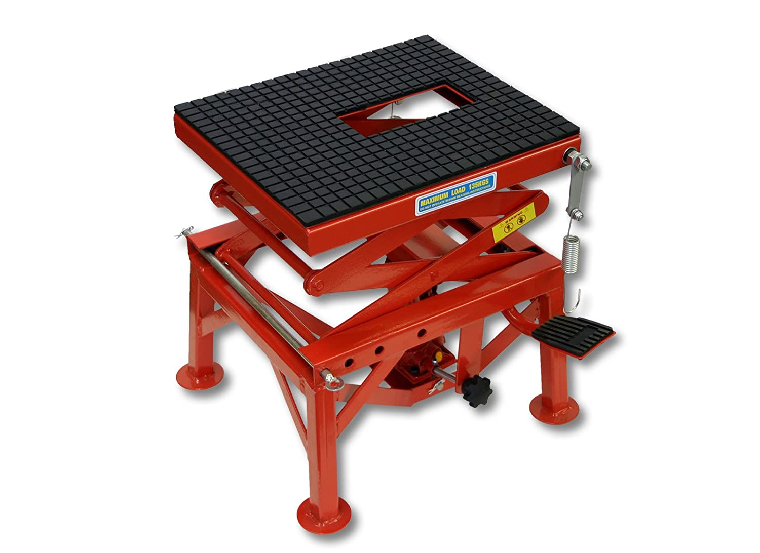 300lb 135kg Hydraulic Motorcycle Workbench Lift Bike ATV Stand Jack Table Bench 50796