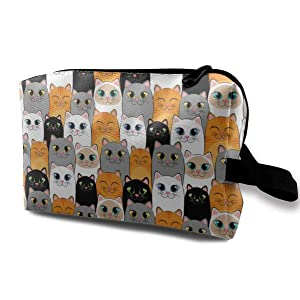 Cats Ginger Siamese Kittens Toiletry Bag Multifunction Cosmetic Bag Portable Makeup Pouch Travel Hanging Organizer Bag For Women Girls