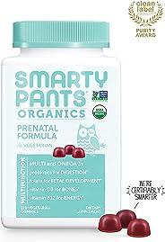 Daily Organic Gummy Prenatal Multivitamin: Biotin, Vitamin C, D3, E, B12, A, Omega 3, Zinc, Selenium, Niacin, Iodine, Choline