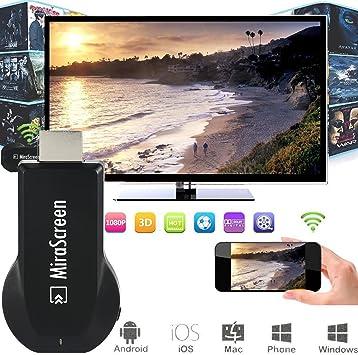 XCSOURCE Mirascreen HDMI WiFi Wireless TV Dongle 1080P Media ...