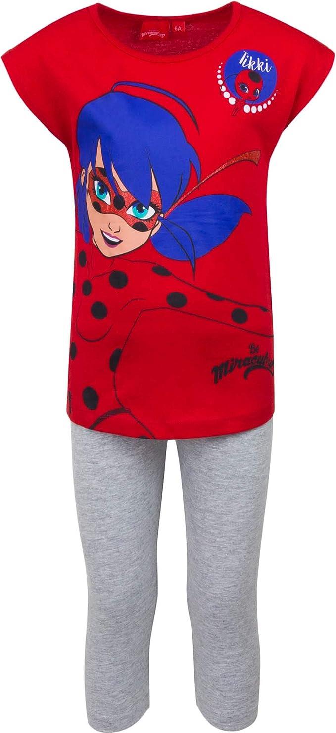 LADY BUG Pijama 34 Chica 100% Algodn Rojo
