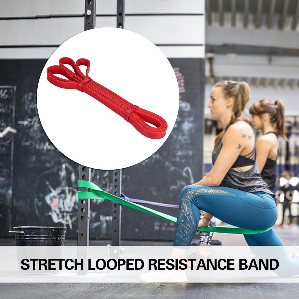 Lixada Fascia per Allenamento con 4 Livelli di Resistenza Durevole Bande Cinghia Elastica Fitness per Pull Up Allungamento Yoga Pilates Lallenamento a Casa Palestra