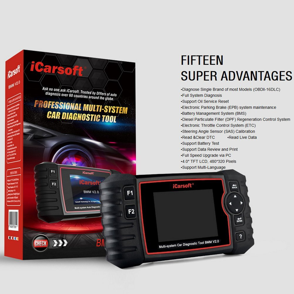 the update version of iCarsoft i910-II Professional Multi-system Auto Diagnostic Tool BMM V2.0 for BMW//Mini