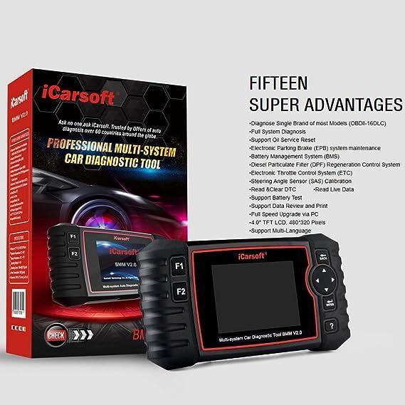 Amazon Com Icarsoft Obd2 Scanner Code Reader Car Diagnostic Tool
