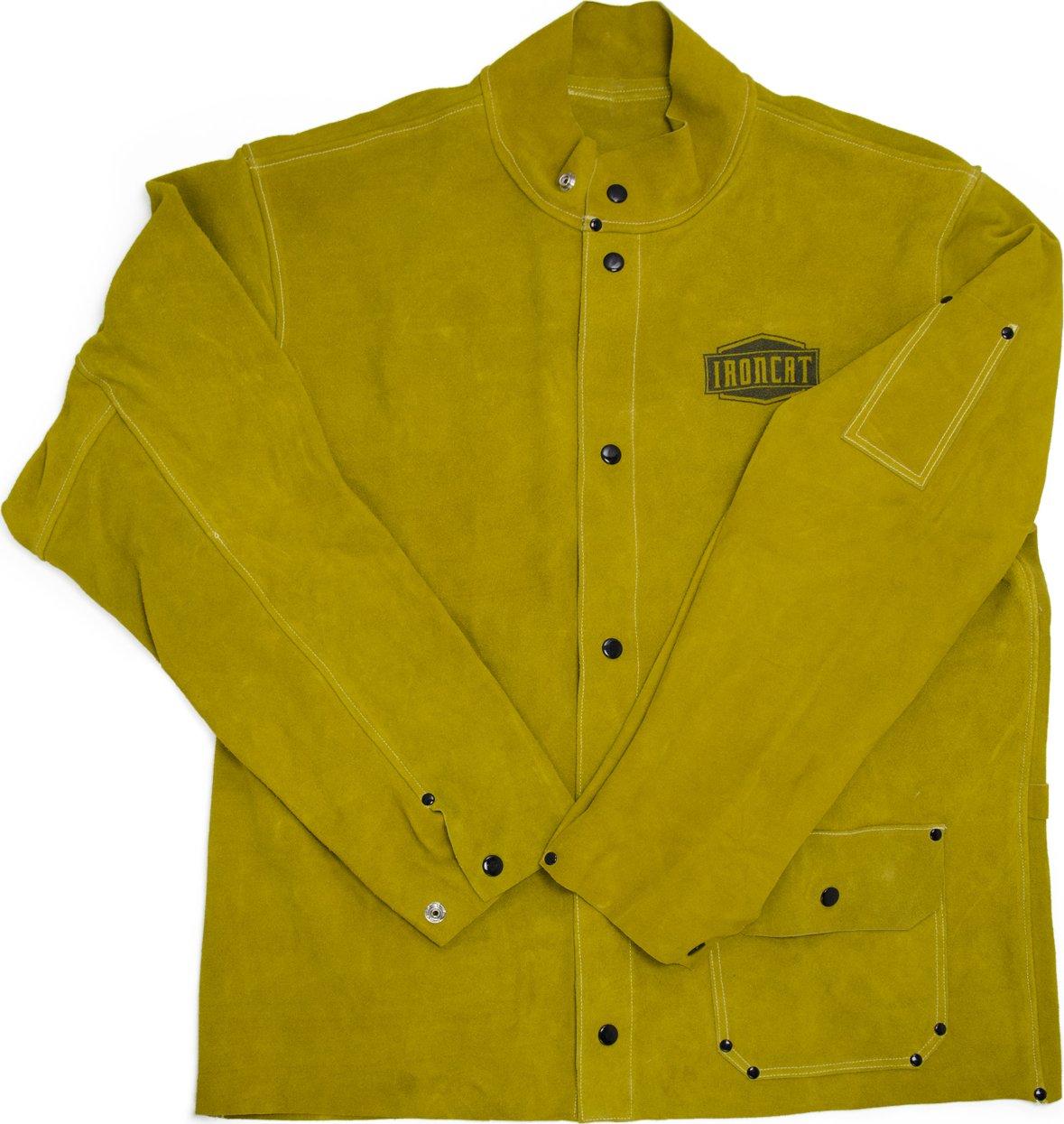 West Chester IRONCAT 7005 Heat Resistant Split Cowhide Leather Welding Jacket, XX-Large