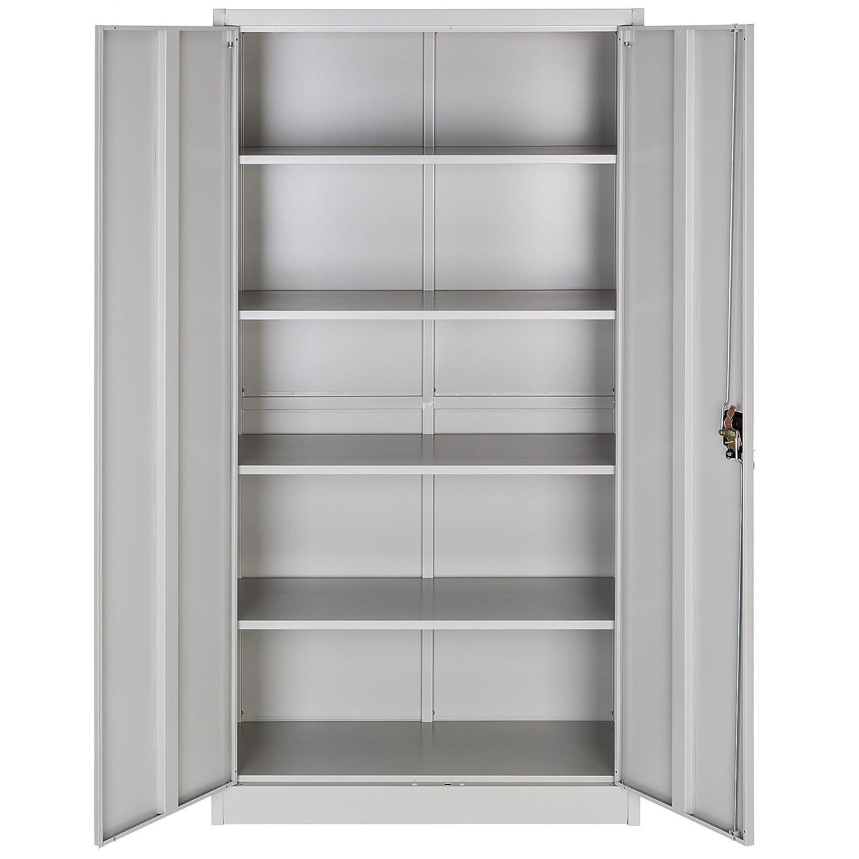 TecTake Armario archivador de Oficina metálico con 2 Puertas bloqueable e estantes - Varias tamaños - (180x90x40 cm | no. 402483): Amazon.es: Hogar