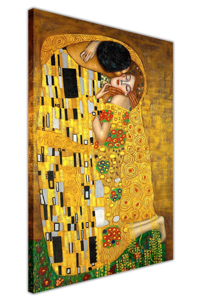 The Kiss Poster Canvas Prints Painting Gustav Klimt Wall Art For Home Decor