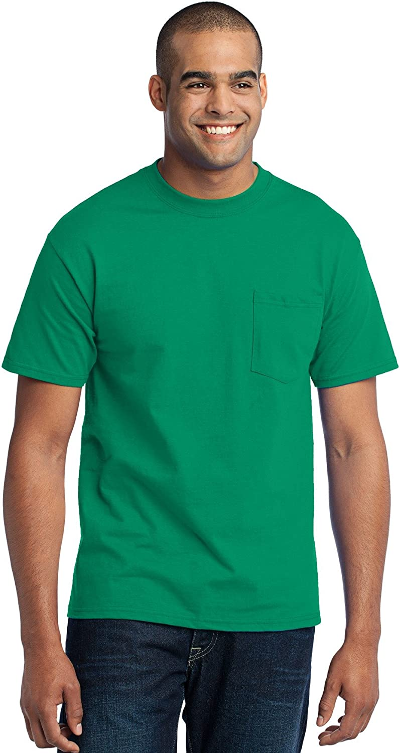 Port /& Company Mens Tall 50//50 Cotton//Poly T Shirt with Pocket
