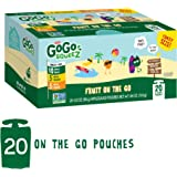 GoGo SqueeZ Applesauce on the Go, Variety Pack (Apple Apple/Apple Banana/Apple Mango), 3.2 Ounce Portable BPA-Free Pouches, Gluten-Free, 20 Total Pouches
