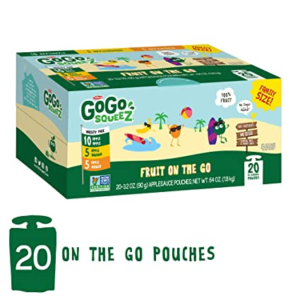GoGo SqueeZ Applesauce on the Go, paquete variado, bolsas ...