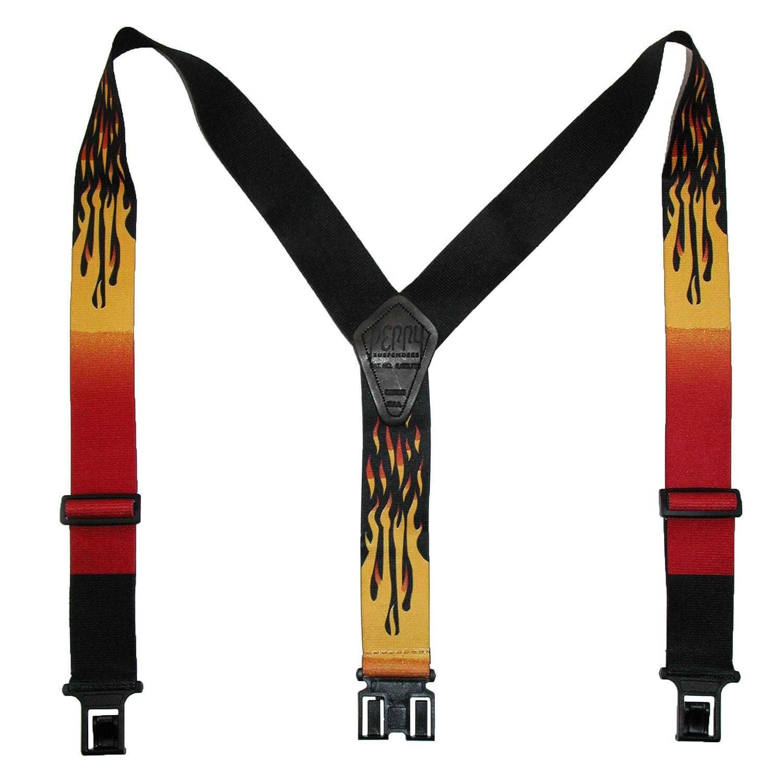 Perry Suspenders - Bretelles - Homme Taille unique PN-48-Flames-2-P