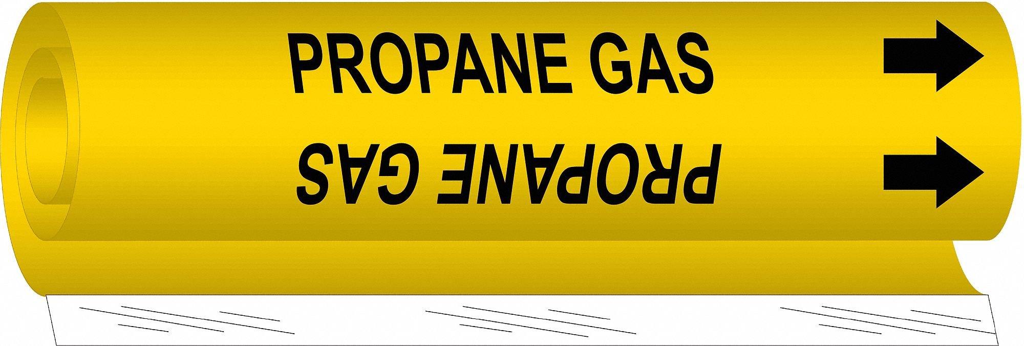 Pipe Marker,Propane Gas