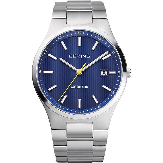 BERING Reloj Analógico para Hombre de Automático con Correa en Acero Inoxidable 13641-707