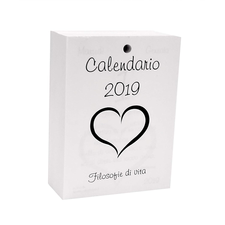 Calendario 2019 con Filosofie di vita RICAMBIO CM 9,5 X 13,8 SMALL