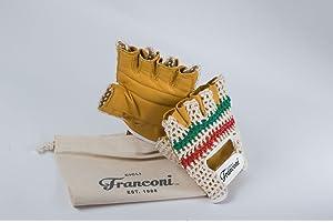 74bfbb60fd2fd7 Cicli-Franconi Retro Fahrrad Handschuhe urban-Classic Italia, Leder gelb
