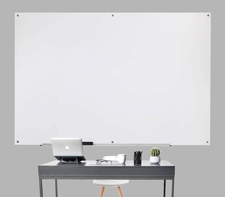Trocken abwischbares Whiteboard aus Glas magnetisch Wei/ß Basics 1,21 x 0,91 m