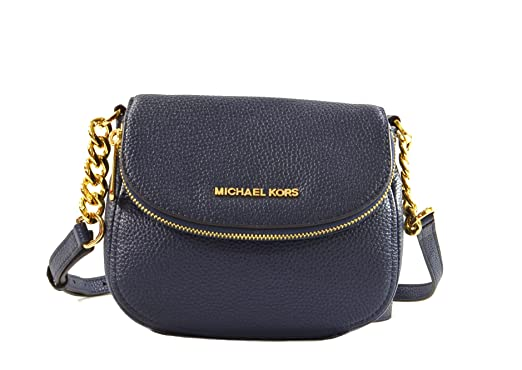 76c0c530778d MICHAEL Michael Kors Bedford Flap Crossbody in Navy: Amazon.co.uk: Clothing
