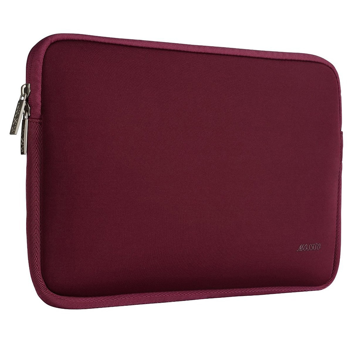 MOSISO Water Repellent Lycra Sleeve Bag Cover Compatible 13-13.3 Inch Laptop with Small Case Compatible MacBook Charger, Wine Red by MOSISO (Image #5)