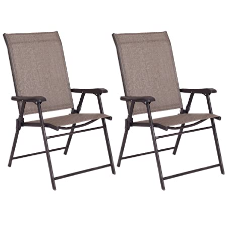 Giantex Patio Folding Sling Chairs Furniture Camping Deck Garden Pool Beach Set of 2