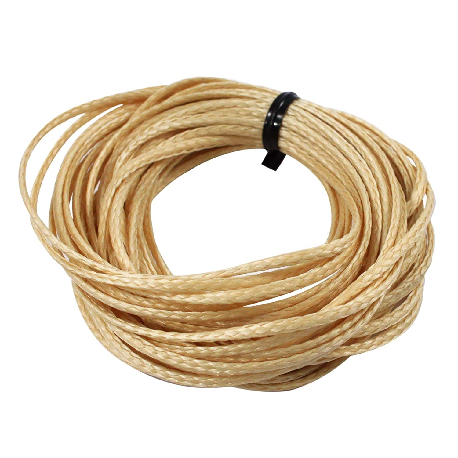 ASR Tactical Natural Braided Vectran Cord 600lb Breaking Strength 100ft