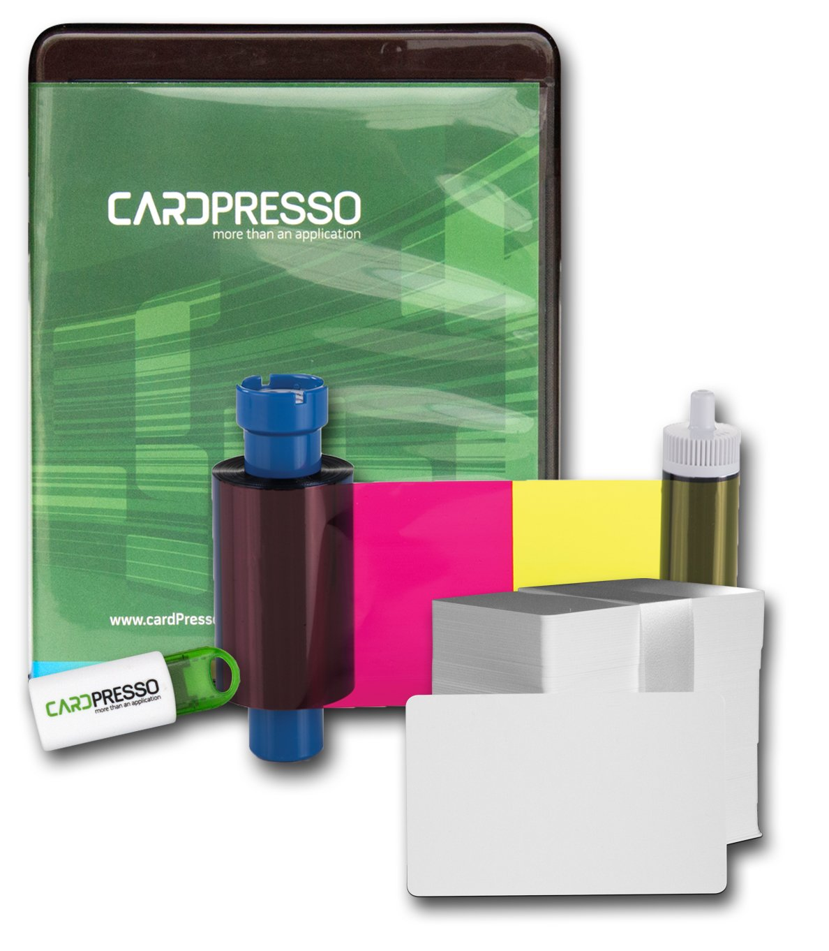 Magicard Supplies Package: Color ribbon (300 images), PVC cards, Design Software