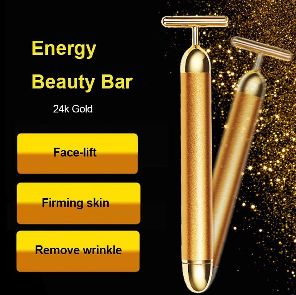 Careshine 24K Gold Beauty Bar Facial Roller Skin Care Beauty Bar Massager Micro Vibration Face Lift Massager Anti-aging