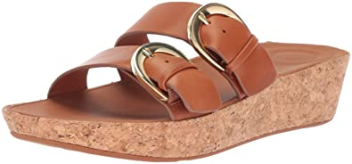 03270eb4a163b FitFlop Women s Duo-Buckle Slide Sandals-Leather