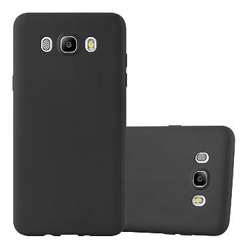 Cadorabo Funda para Samsung Galaxy J5 2016 en Candy Negro – Cubierta Proteccíon de Silicona TPU Delgada e Flexible con Antichoque – Gel Case Cover ...