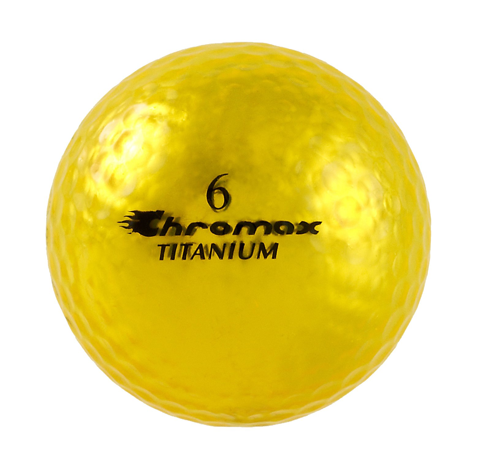 Chromax High Visibility M1x Golf Balls 6-Pack, Gold by Chromax