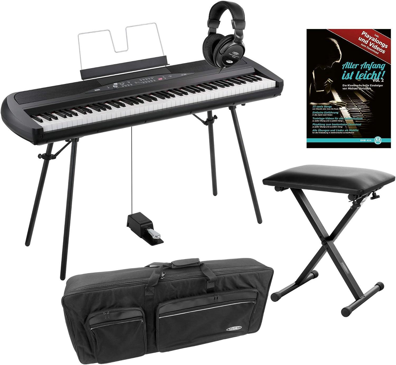 Korg SP de 280 BK Portable Piano Set (88 teclas, NH de ...