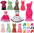 Bigib Set for 11 inches Barbie Ba-Girl Fashion Dolls Clothes Accessories