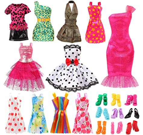 Handmade party dress doll clothes doll accessories for 11 inch Dolls Gift NJ