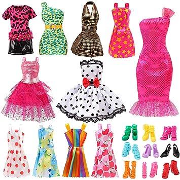 aff8409097f2f Bigib Set for 11 Ba-Girl Fashion Dolls Clothes Accessories