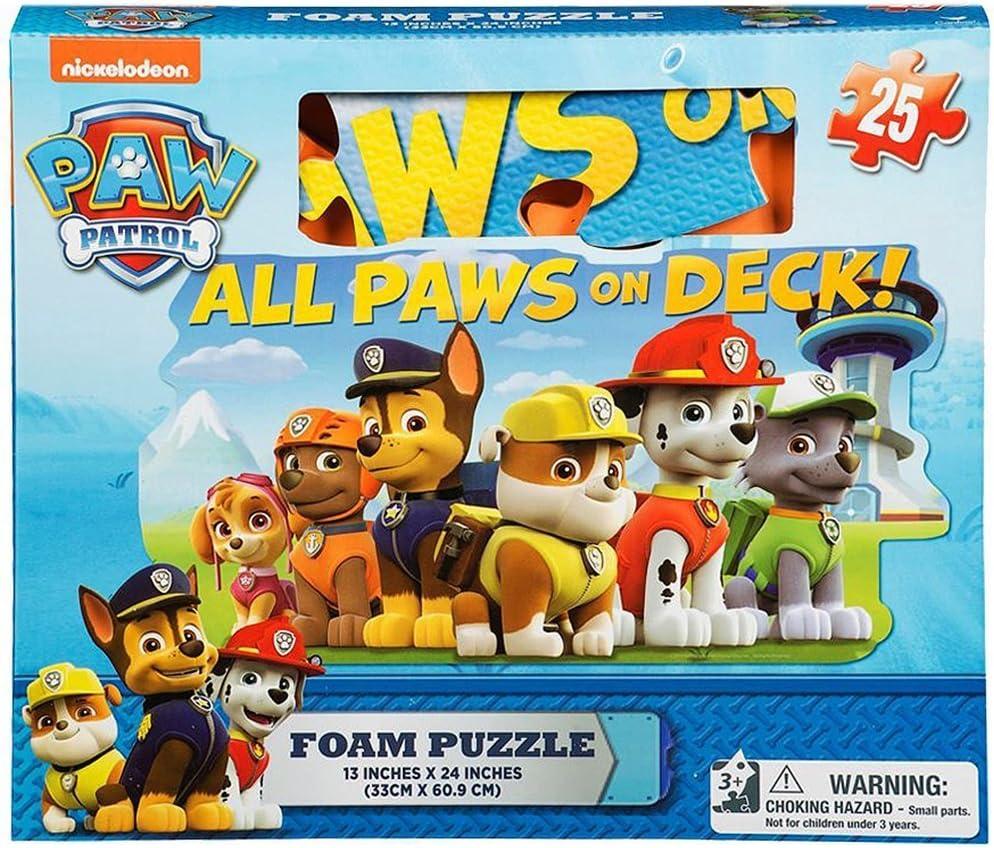 Gift Item Paw Patrol Foam Floor Puzzle by Cardinal  25 Piece   Multicolor