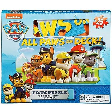 a8d7b1a4 Gift Item Paw Patrol Foam Floor Puzzle by Cardinal (25 Piece), Multicolor