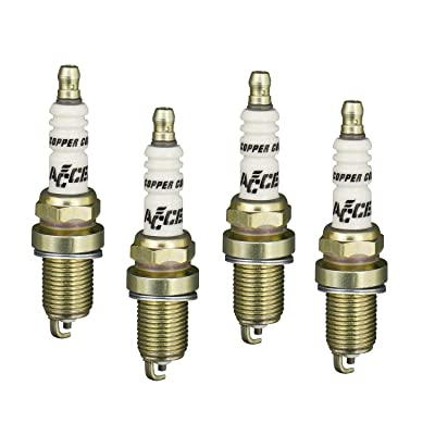 ACCEL 0416S-4 Shorty Copper Core Spark Plug, (Pack of 4): Automotive