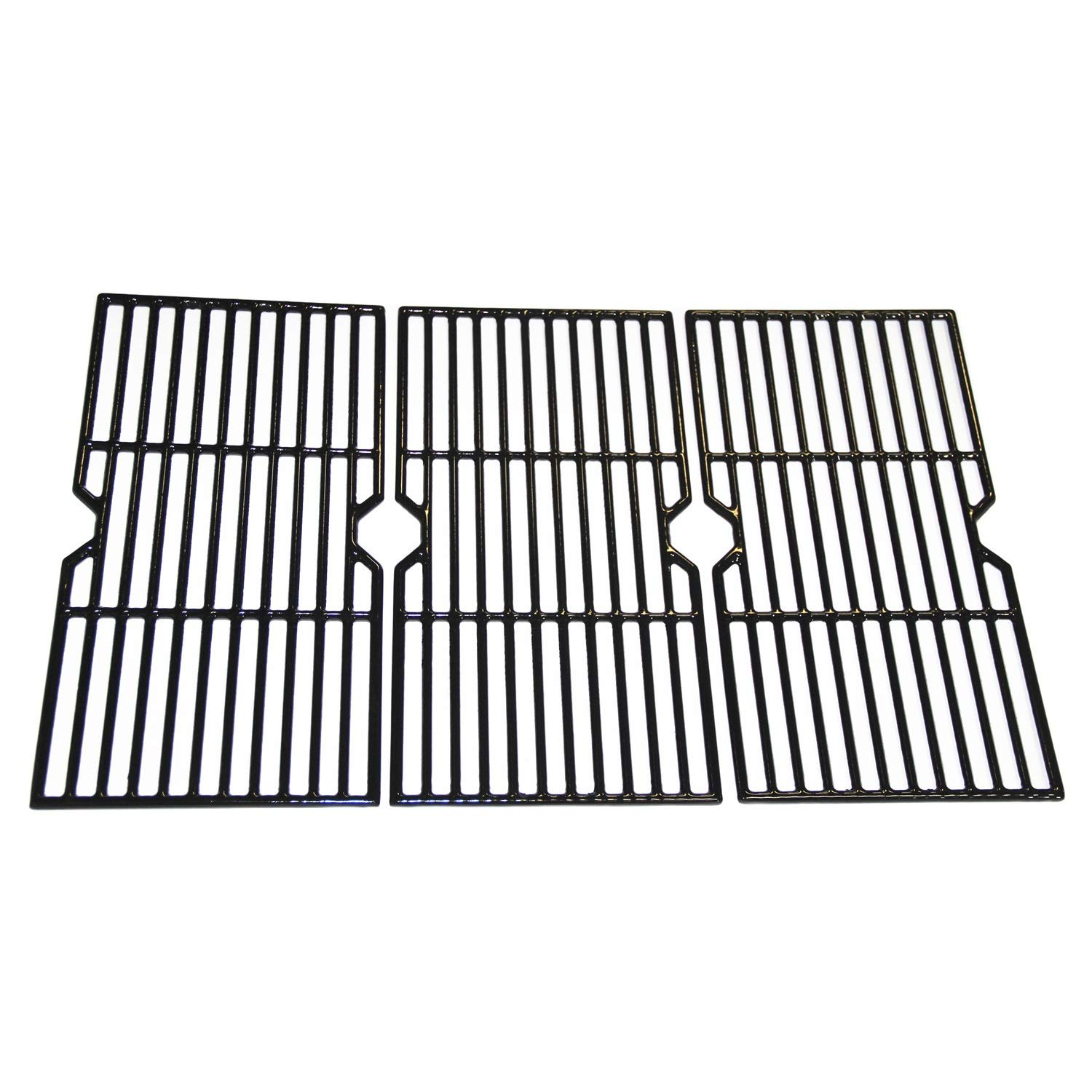 Hongso PCB003 Porcelain Coated Cast Iron Grill Grid Grates Replacement for Charbroil 463344015, 466344015, 466642616, Nexgrill 720-0864 Gas Grill, G467-0002-W1, One 3-pc Cooking Grid Set by Hongso