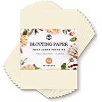 Blotting Paper for Flower Pressing - Large, A4 Size, 200gsm - Highly Absorbent and Reusable Herbarium Paper - Pack of 10…