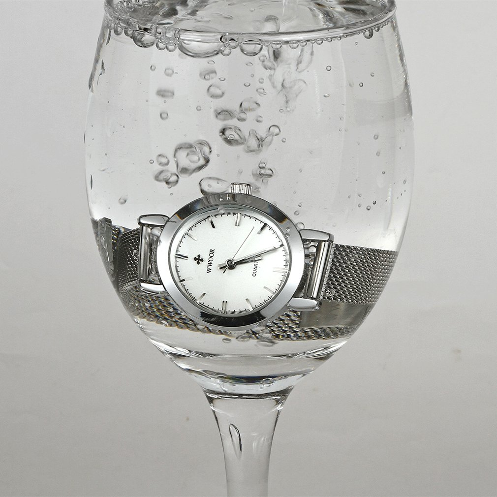 Amazon.com: Wwoor Brand Fashion Womens Stainless Steel Quartz Watches Ladies Mesh Band Wrist Watch WR-8823 (silver): wwoor: Beauty