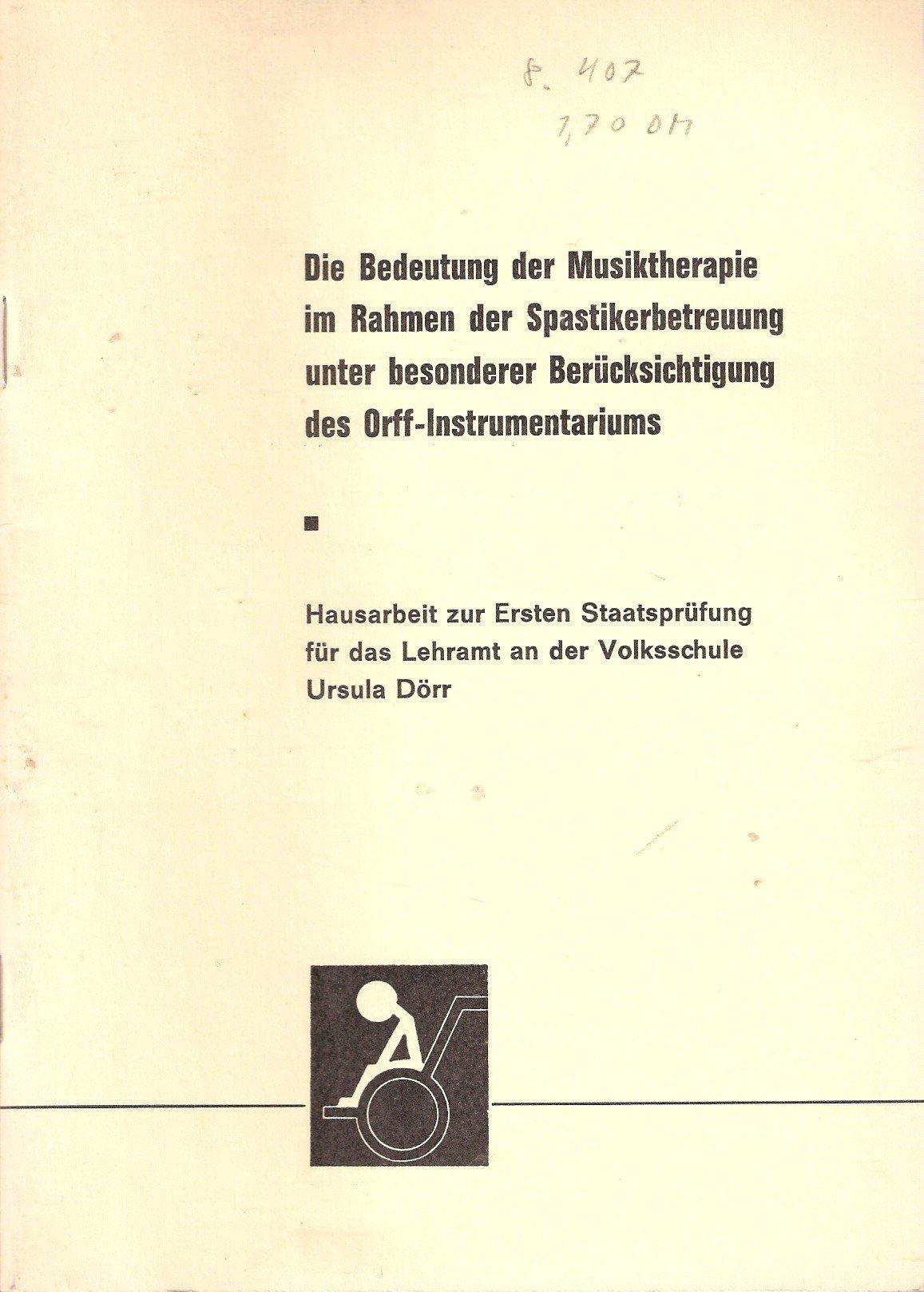 Die Bedeutung der Musiktherapie im Rahmen der Spastikerbetreuung ...