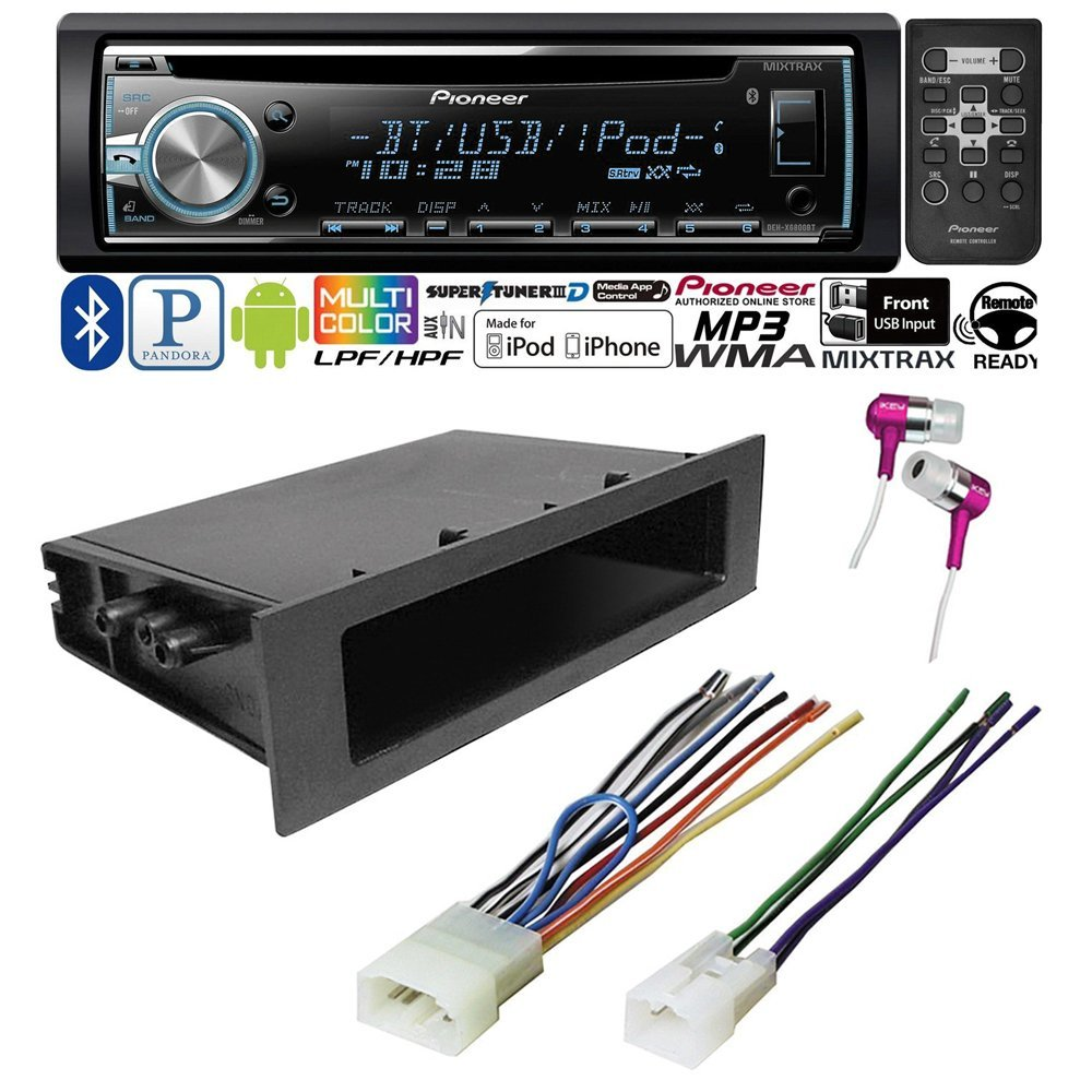 CAR CD STEREO RECEIVER + DASH INSTALL MOUNTING KIT+ WIRE HARNESS TOYOTA 1984 - 2004