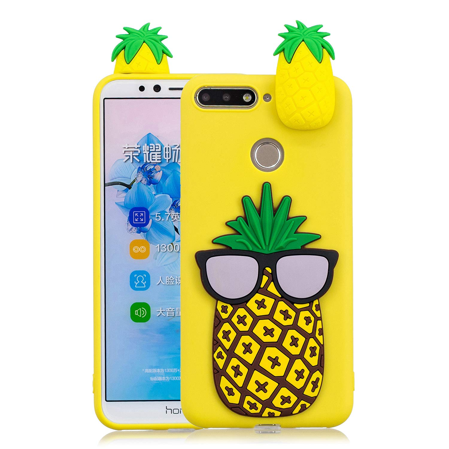 Amazon.com: Yobby 3D Cartoon Case for Huawei Y6 2018, Huawei ...