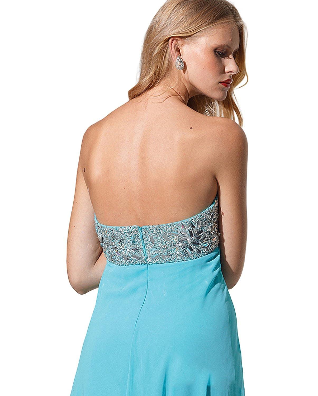 Amazon.com: Terani Strapless Flowy Dress 1528: Clothing