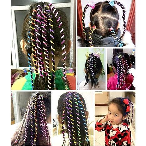 Llguz Creative 6pcs Kids Curler Hair Braid Children Braid Hair Accessories Little Girl Decor Hair Accesories Curly Hair Tools