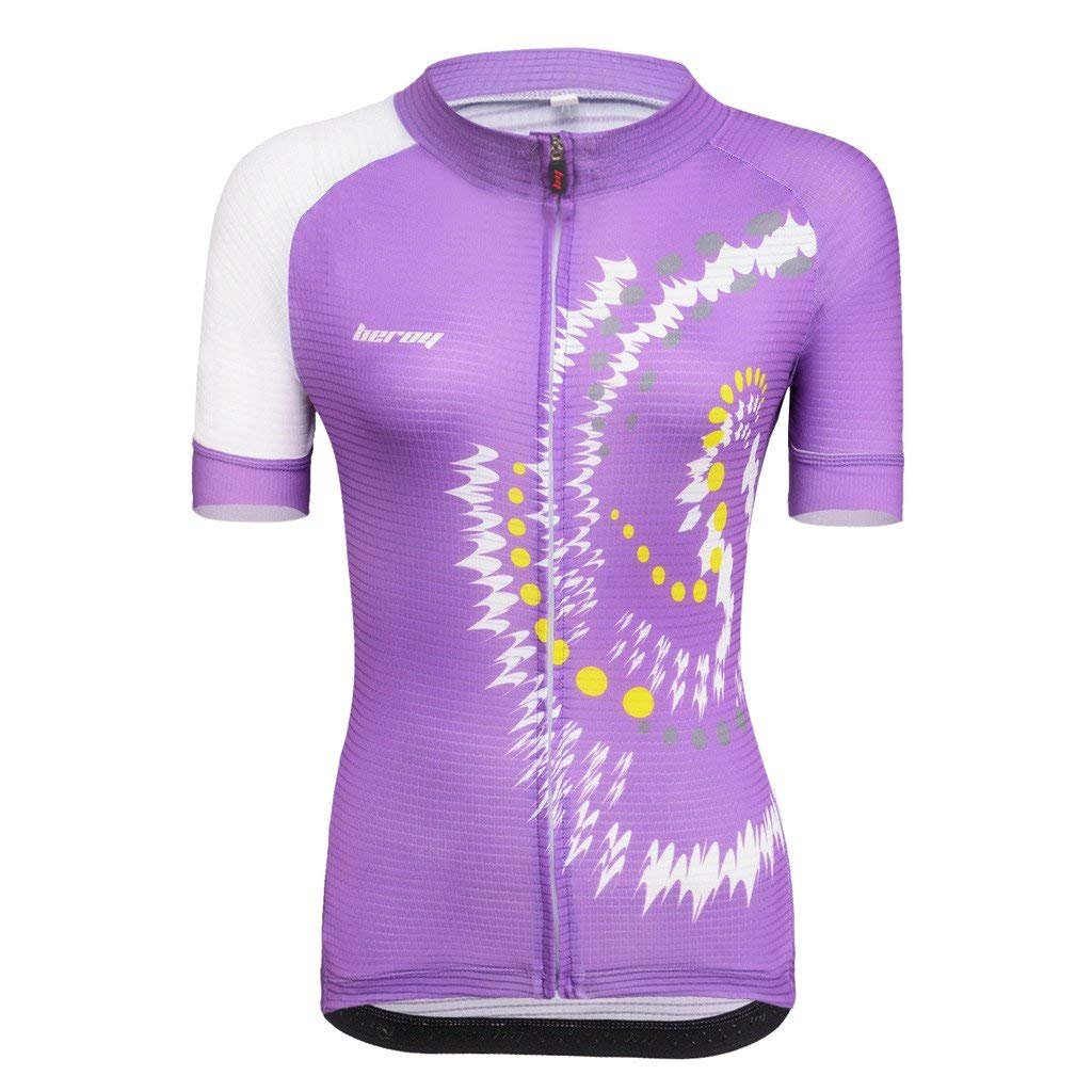 beroy Women Cycling Jersey with Pockets,Biking Jerseys forLadies(S Purple) by beroy