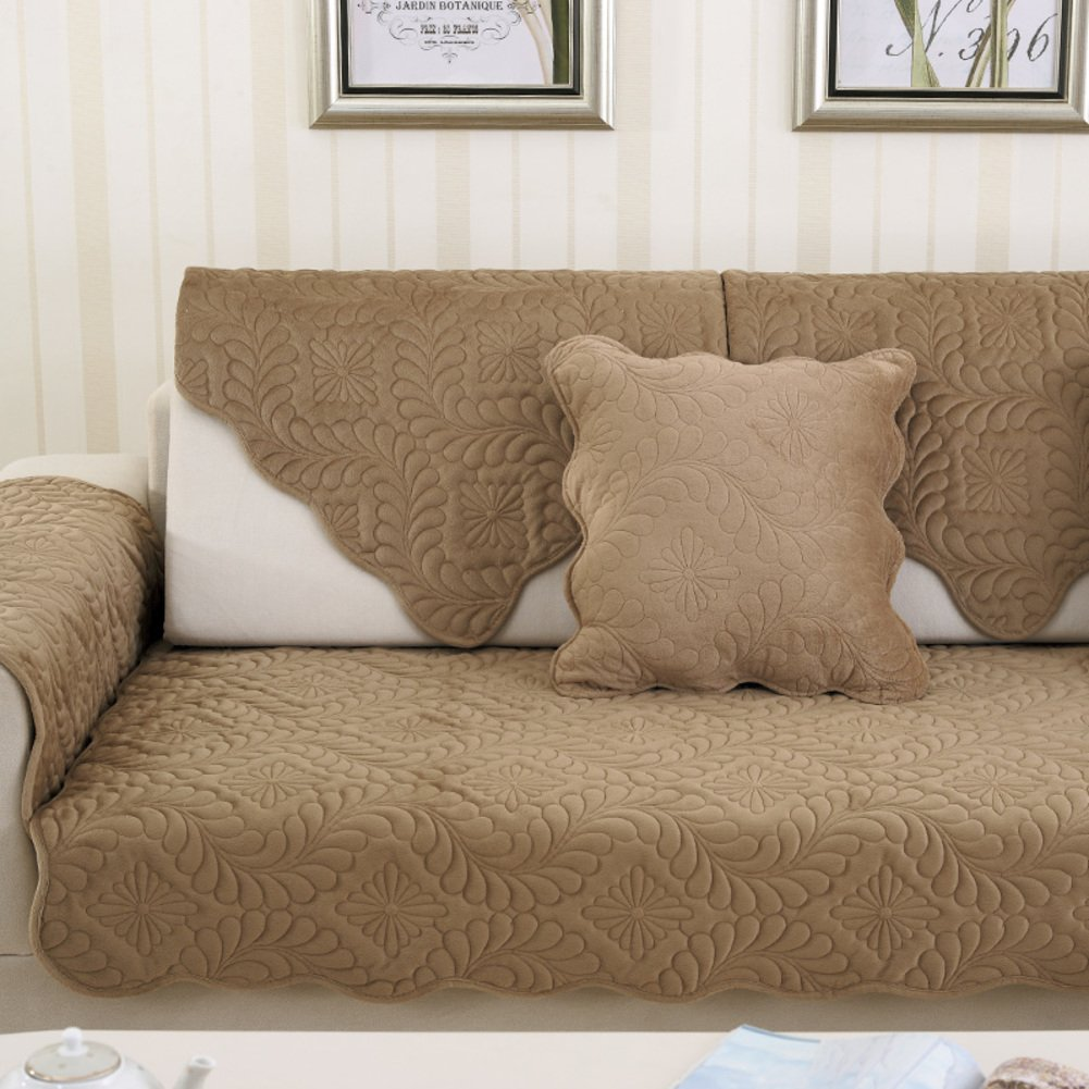 Amazon.com: TY&WJ Plush Sofa Cover Anti-Slip Stain-Resistant ...